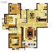 凤祥铭居3室2厅2卫138平方米户型图