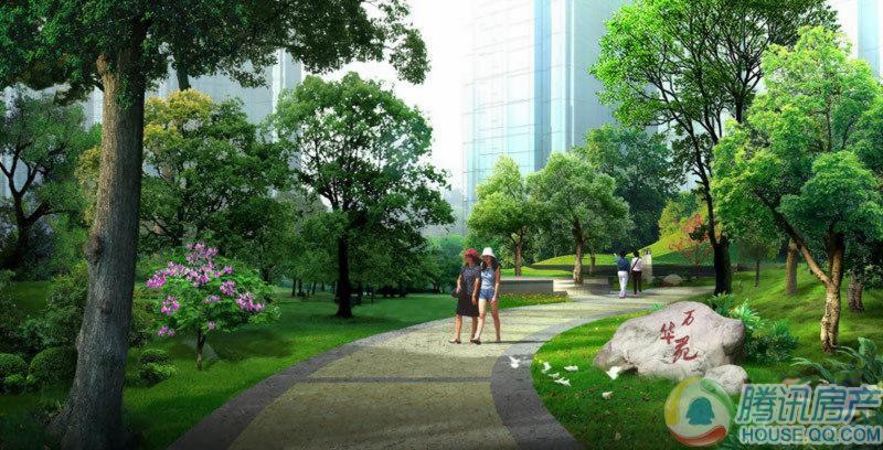 上东一号二期园林效果图