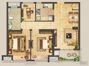 大名城名郡3室2厅1卫88平方米户型图