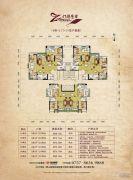 中建・灯湖领秀2室2厅1卫68--76平方米户型图
