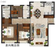 仁恒公园世纪3室2厅2卫0平方米户型图