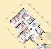 敏捷金月湾3室2厅2卫127平方米户型图