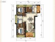 龙斗壹号・海岸城3室2厅2卫126平方米户型图