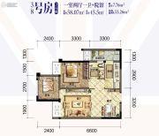 华宇温莎小镇1室2厅1卫58平方米户型图