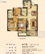 茂新・四季澜庭3室2厅2卫98平方米户型图