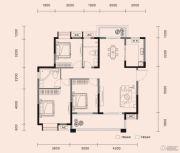 梧桐邑・九棠府3室2厅2卫123平方米户型图