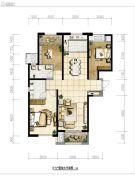保利・拉菲公馆3室2厅2卫134平方米户型图
