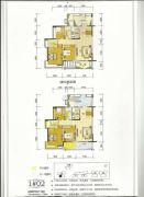 百盛公馆・世纪1号3室2厅2卫110平方米户型图