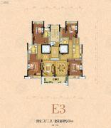 银河名苑4室3厅3卫224平方米户型图