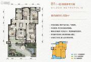万科金色悦城4室1厅2卫133平方米户型图