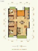 康田紫悦府4室2厅3卫117平方米户型图