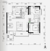 保利华润紫云3室2厅2卫102平方米户型图