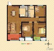 九洲花园缇香郡3室2厅1卫106平方米户型图