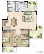 国信・上城2室2厅1卫0平方米户型图