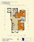 旺佳・华府3室2厅1卫134平方米户型图