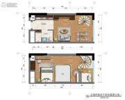 雄峰城2室2厅1卫46平方米户型图