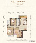 风憬天下3室2厅2卫111平方米户型图