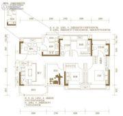 玖颂江湾3室2厅2卫108平方米户型图
