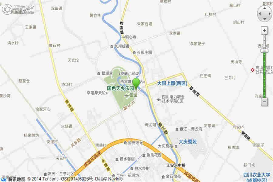 国色天乡鹭湖宫6区交通图