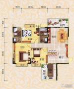 永翔时代名苑3室2厅2卫128平方米户型图