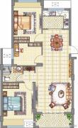 梧桐公馆3室2厅1卫96平方米户型图