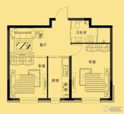 多恩海棠湾2室1厅1卫65平方米户型图