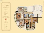 金海首府5室2厅2卫175平方米户型图