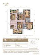 时代南湾北岸4室2厅2卫121平方米户型图