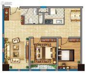 金龙湖广场2室2厅1卫98平方米户型图