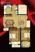 书香华府2室2厅1卫92平方米户型图