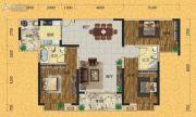 欧景蓝湾3室2厅2卫129平方米户型图