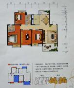 曼哈顿商业广场4室2厅2卫130平方米户型图