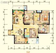 同景优活城3室2厅2卫90平方米户型图