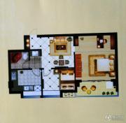 中泰华府2室2厅1卫74平方米户型图