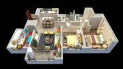 中昂安纳西小镇3室2厅2卫120平方米户型图