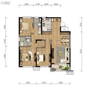 万科时代之光3室2厅2卫119平方米户型图