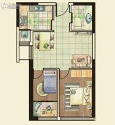 城关江南明珠2室2厅1卫68平方米户型图