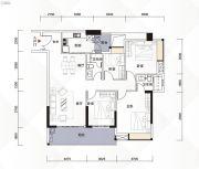 富力现代广场4室2厅2卫143平方米户型图