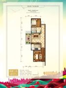 中泽纯境2室1厅1卫66平方米户型图
