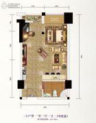 长投珑庭1室1厅1卫43--50平方米户型图
