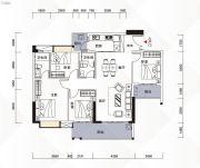 富力现代广场4室2厅2卫135平方米户型图