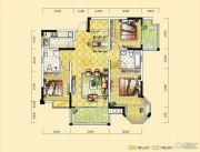 远达天际上城3室2厅2卫120平方米户型图