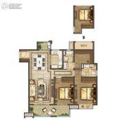 云樾东方3室2厅2卫122平方米户型图