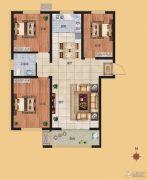 香榭丽都3室2厅1卫113平方米户型图