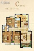 家天下3室2厅2卫105平方米户型图