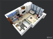 展恒怡和国际1室1厅1卫0平方米户型图