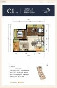 龙斗壹号・海岸城3室2厅1卫91平方米户型图