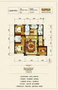 银河太阳城四期3室2厅2卫116平方米户型图