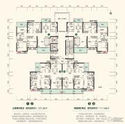 中建・江湾壹号3室2厅2卫111--137平方米户型图