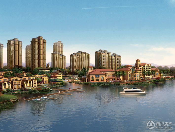 东海闲湖城鸟瞰图